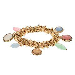 Napier Geometric Charm Bracelet