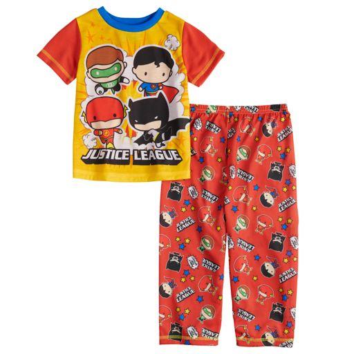 Toddler Boy DC Comics Justice League Green Lantern, Superman, The Flash & Batman Top & Bottoms Pajama Set