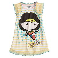 Toddler Girl DC Comics Wonder Woman Ruffled Nightgown