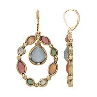 Napier Colorful Inlay Drop Earrings