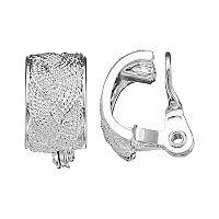 Napier Woven Rope Clip-On Earrings