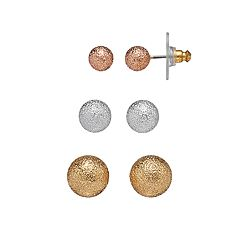 Napier Textured Ball Stud Earring Set