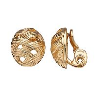 Napier Woven Clip-On Earrings