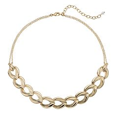Napier Textured Chain Link Necklace