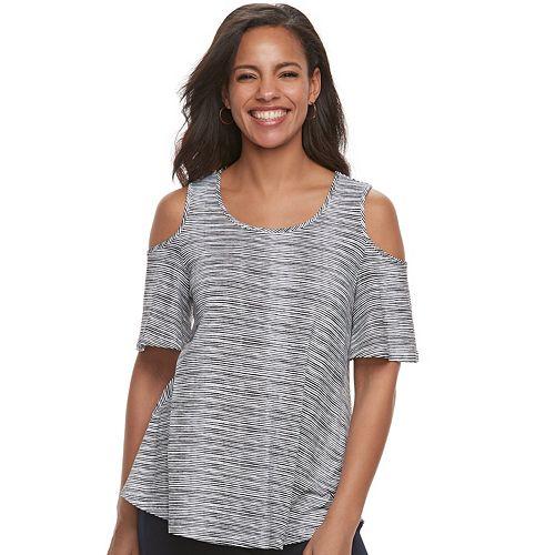 Women's ELLE™ Cold-Shoulder Top
