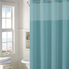 Hookless Plain Weave Shower Curtain & Liner