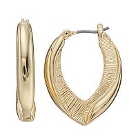 Napier Textured U-Hoop Earrings