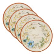 Certified International Herb Blossoms 4-piece Dinner Plate Set
