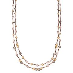 Napier Beaded Long Double Strand Necklace