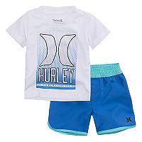 Baby Boy Hurley Graphic Tee & Shorts Set