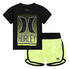 Baby Boy Hurley Graphic Tee & Shorts Set