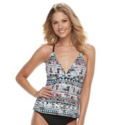 Women's Apt. 9® Tribal Macrame Racerback Tankini Top