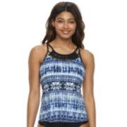 Women's Apt. 9® Tie-Dye Macrame Tankini Top