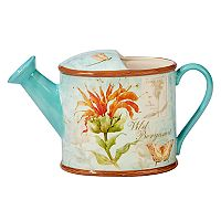 Certified International Herb Blossoms 96-oz. Watering Can Pitcher