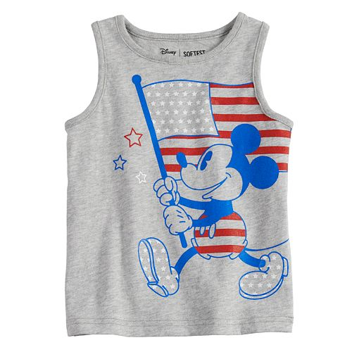 077707a2405a5 Disney s Mickey Mouse Toddler Boy Patriotic Flag Softest Tank Top by  Jumping Beans®