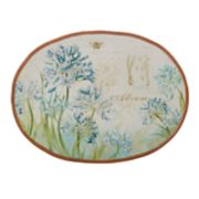 Certified International Herb Blossoms Oval Platter