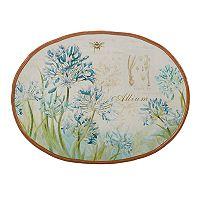 Certified International Herb Blossoms Oval Platter