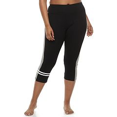 Plus Size SO® Colorblock Crop Yoga Leggings