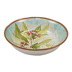 Certified International Herb Blossoms Pasta / Serving Bowl