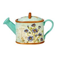 Certified International Herb Blossoms 32-oz. Watering Can Teapot