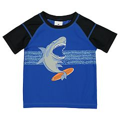 Boys 4-7 Skechers Surfing Shark Rash Guard Top