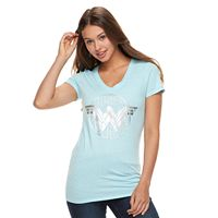 Juniors' DC Comics Wonder Woman V-Neck Graphic Tee
