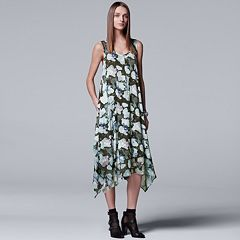 Women's Simply Vera Vera Wang Print Handkerchief Tank Dress