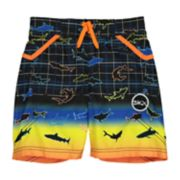 Boys 4-7 Skechers All-Over Shark Swim Trunks