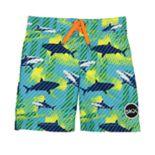 Boys 4-7 Skechers Sharks Swim Trunks
