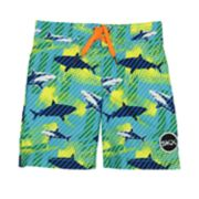 Boys 4-7 Skechers Sharks Swim Trunks