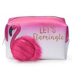 Jade & Deer Flamingo Loaf Cosmetic Bag