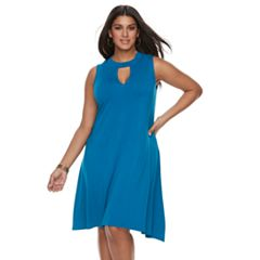 Plus Size Jennifer Lopez Cut Out Dress