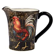 Certified International Gilded Rooster 112-oz. Pitcher