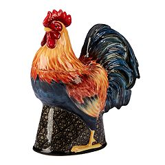 Certified International Gilded Rooster 3D Cookie Jar