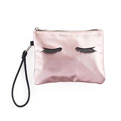 Jade & Deer Eyelashes Cosmetic Wristlet