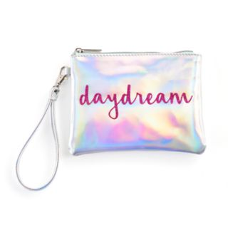 "Jade & Deer ""daydream"" Holographic Cosmetic Wristlet"