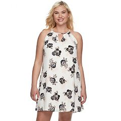 Juniors' Plus Size Candie's® High Neck Swing Dress