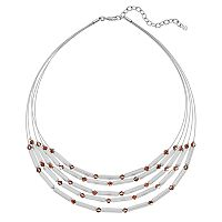 Napier Two Tone Bead Multi Strand Necklace
