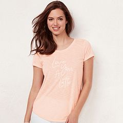 Women's LC Lauren Conrad Slubbed Graphic Tee
