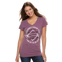 Juniors' Harry Potter 'I Solemnly Swear' V-Neck Graphic Tee