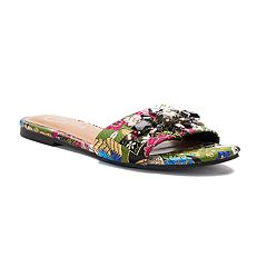 Candie's® Rutabaga Women's Tapestry Slide Sandals