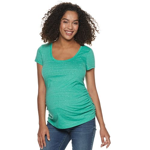 Maternity a:glow Ruched Scoopneck Tee