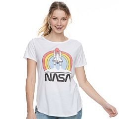Juniors' Retro NASA Graphic Tee