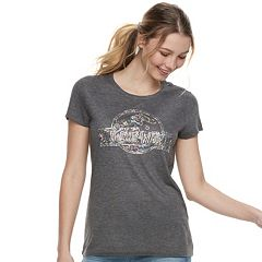 Juniors' Jurassic World Floral Logo Tee