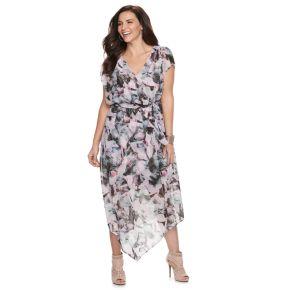 Plus Size Jennifer Lopez V-Hem Wrap Dress