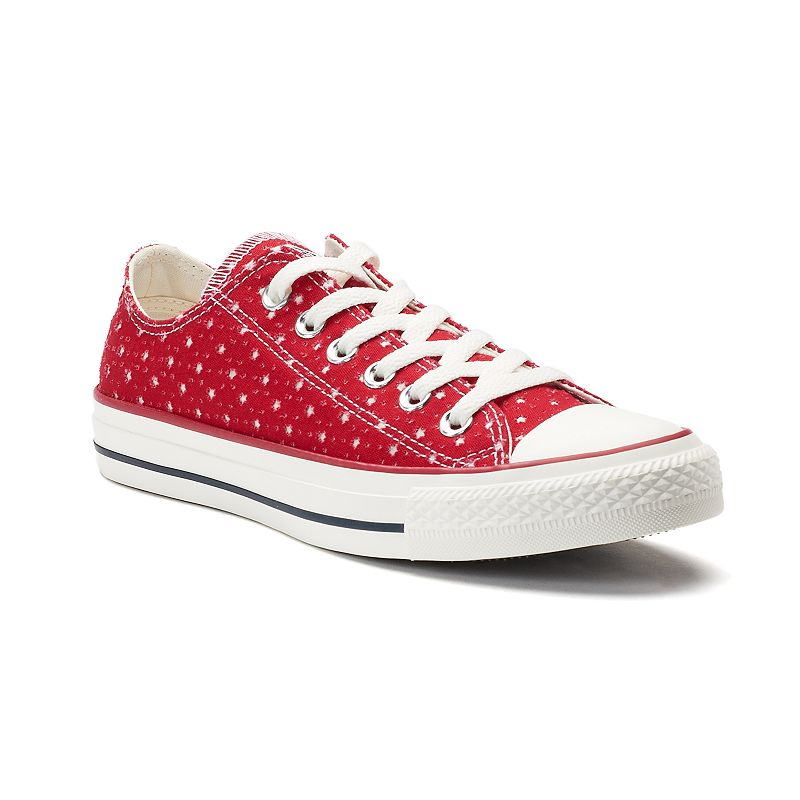 Women's Converse Chuck Taylor All Star Perforated Star Ox Sneakers, Size: 10, Light Pink