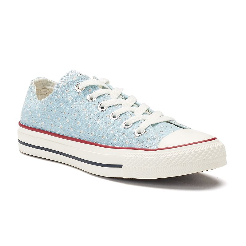 77b2a5a5c55e Women s Converse Chuck Taylor All Star Perforated Star Ox Sneakers ...