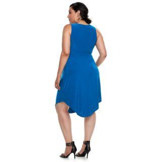 Plus Size Jennifer Lopez Embellished Fit & Flare Dress