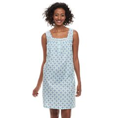 Women's Croft & Barrow® Printed Pointelle Nightgown