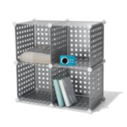 Simple by Design 4-Cube Collapsible Storage Unit